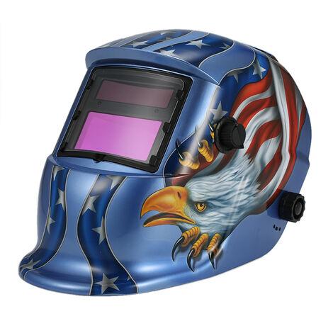 Mascara de soldadores de casco de soldadura con oscurecimiento automatico solar, Arc Tig Mig Grinding Eagle