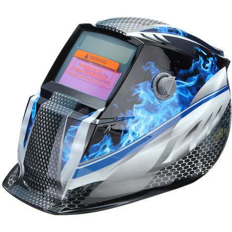 Máscara de soldadura capucha casco automático de soldadura solar azul Sasicare