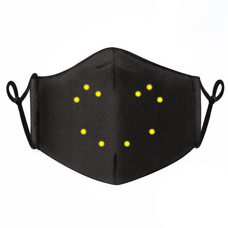 Mascara luminosa activada por voz, mascara de visualizacion de texto de patron de edicion