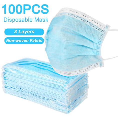Máscaras protectoras antipolvo desechables de 100 piezas