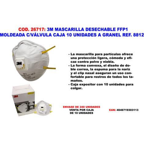 Mascarilla FFP1 NR D Serie 8000 (20 mascarillas)