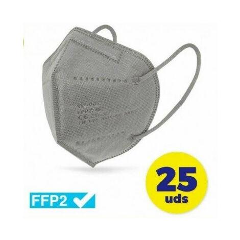 MASCARILLA FFP2 GRIS* CN (CAJA 25 UDS)