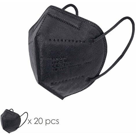Mascarilla FFP2 Plegable Negra. Caja 20 unidades