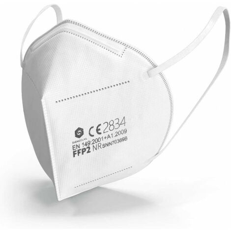 Mascarilla para polvo fino FFP2 sin válvula (Par 20)