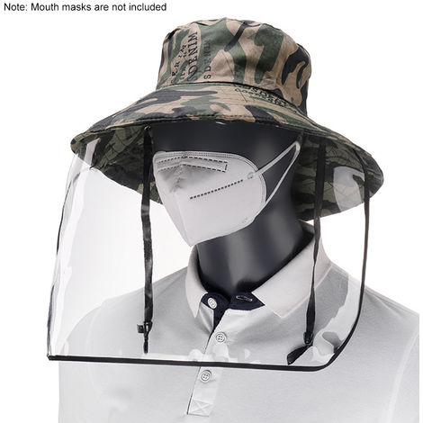 Mascarilla protectora transparente unisex, anti-escupir, gorro de pescador