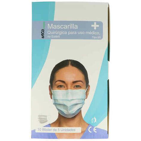 Mascarilla Quirúrgica Desechable Farma Inca (5 Piezas)