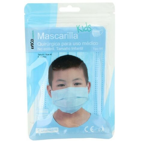Mascarilla Quirúrgica Desechable Farma Inca Infantil (5 Piezas)