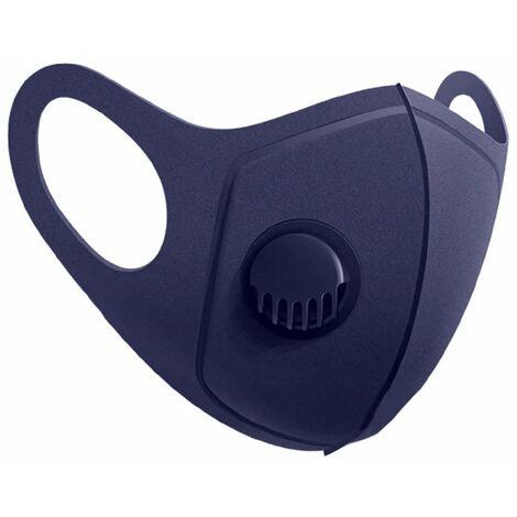 "main image of ""Mascarilla Reutilizable con Válvula Azul Marino O91"""