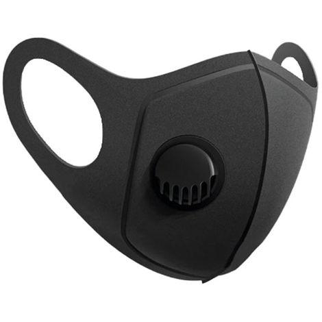 Mascarilla Reutilizable con Válvula Negro O91