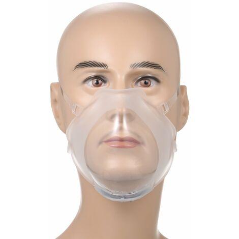 Mascarilla transparente, proteccion facial reutilizable Pantalla facial transparente, cubierta facial de silicona visible antivaho