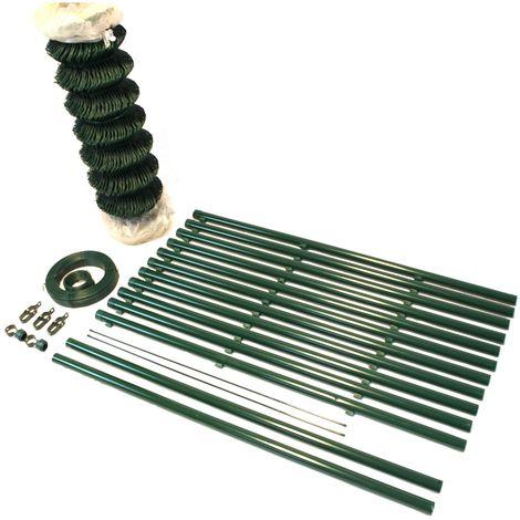 Top-Multi Maschendrahtzaun Wildzaun Gartenzaun PVC-beschichtet GR/ÜN 76mm x 63mm x 1,0m x 25,0m