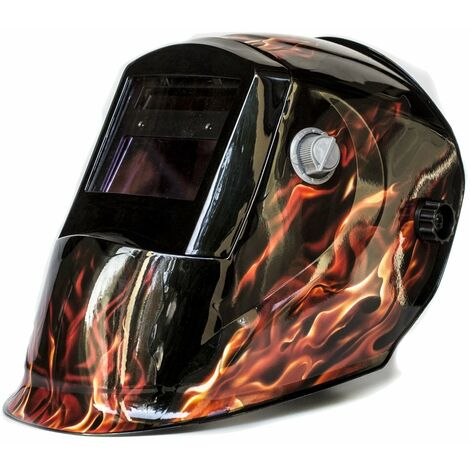 Maschera saldatura automatica LCD Din 4/9 - 13 MMA MIG TIG Foxcot Charm Flame