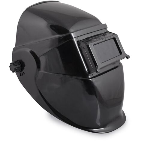 Maschera saldatura saldatrice a casco nero vetro inattinico oscuramento