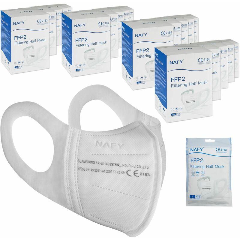Image of Mascherine protettive FFP2 - Mascherina di protezione delle vie respiratorie, mascherina, mascherina con filtro anti particolato - 1000 pezzi - bianco