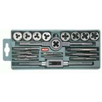 Maschi e Filiere cassetta da 20 pezzi + accessori VALEX
