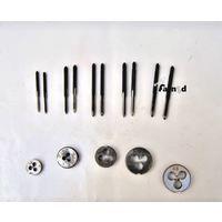 Maschi E Filiere Filiera Mini 15 Pz Filettatura Micro 1,6 2,0 2,5 3,0 3,5 Cin