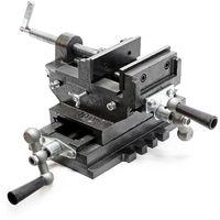 Maschinenschraubstock 2-Achsen Schraubstock für Kreuztisch Frästisch oder Werkbank