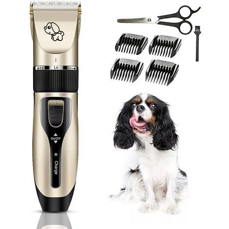 Mascotas Perro Gato electrico Clipper Kit de preparacion del perro, USB recargable