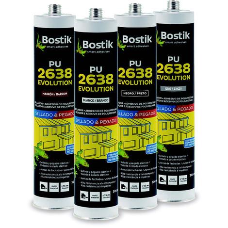 Masilla Adhesiva Poliuretano Pu2638 Gris 300 Ml - BOSTIK - 30817068