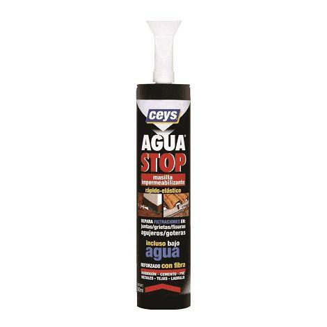 Masilla Impermeabilizante aguastop caucho 300 ml Gris