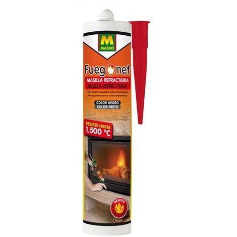 Masilla refractaria 1500º Fuego net Masso 310 ml