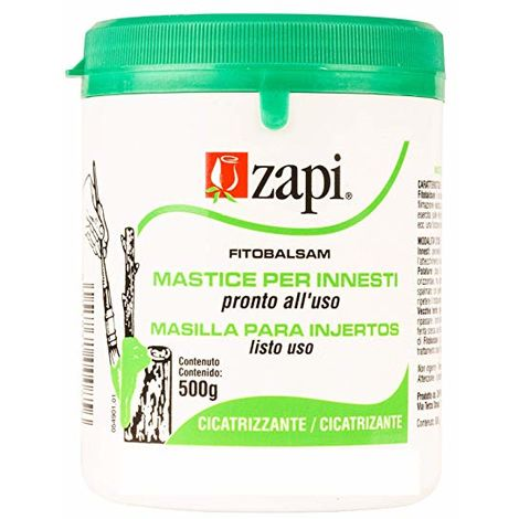Masilla ZAPI cicatrizante para injertos, roturas o heridas de poda - 500g