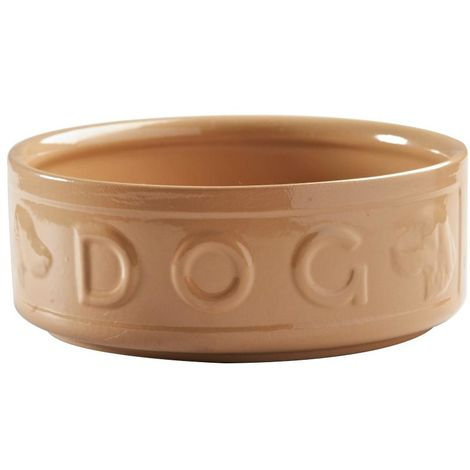 Mason Cash Cane Lettered Dog Bowl (8in) (May Vary)
