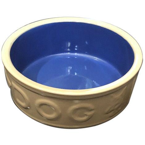 Mason Cash Lettered Dog Bowl (18cm) (Brown/Blue)