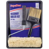 "Masonary Paint Roller Kit with 4"" Brush"