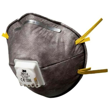 Masque 3M 9914 jetable anti poussière FFP1 avec soupape x10