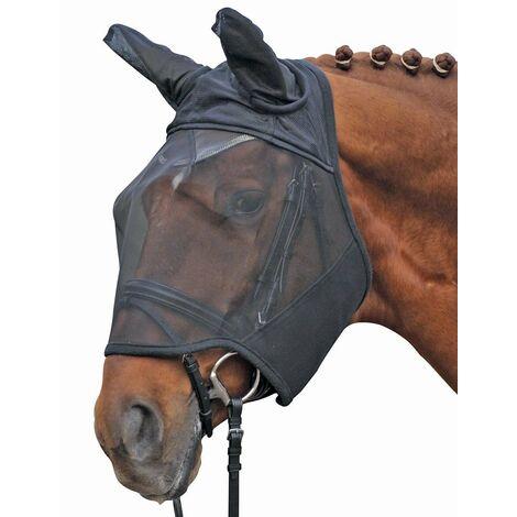 Masque anti-mosque avec fermeture tearjaw pour chevaux HKM Classic