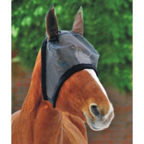 Masque anti-mosque pour chevaux avec bordure en peluche HKM Classic