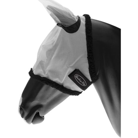 Masque anti-moustique en nylon PVC avec protège-oreilles et fermeture tearjaw AmaHorse