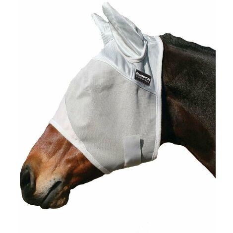 Masque anti-moustiques pour chevaux, lisse et respirant, avec couvre-oreilles et fermeture en tissu Professional Choice