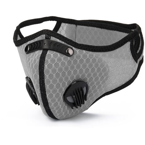 Masque Anti-Poussiere, Coupe-Vent, Chaleur Et Antibuee Pour Le Cyclisme Sportif Et Fitness, Gris
