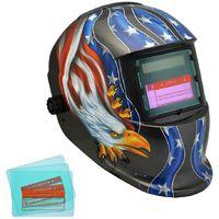 Masque avec Assombrissement Automatique, Masque de Soudure Réglable, Avec 3 lentilles supplémentaires, Motif aigle, Matériau: Plastique (PP, PE), PCB