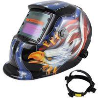 Masque avec Assombrissement Automatique, Masque de Soudure Réglable, Motif aigle, Matériau: PCB, LCD