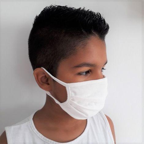 Masque barrière 2 couches JSE Medical | Ado 11-16 ans | KIDS (lot de 6) Blanc Unique