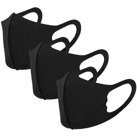 Masque Bouche Reutilisable Mince Masque Anti Pollution Pour Le Cyclisme Camping Voyage Randonnee, 3 Pieces Pour Les Enfants