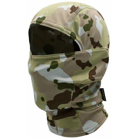 Masque Complet, 1Pc, Camouflage Jaune