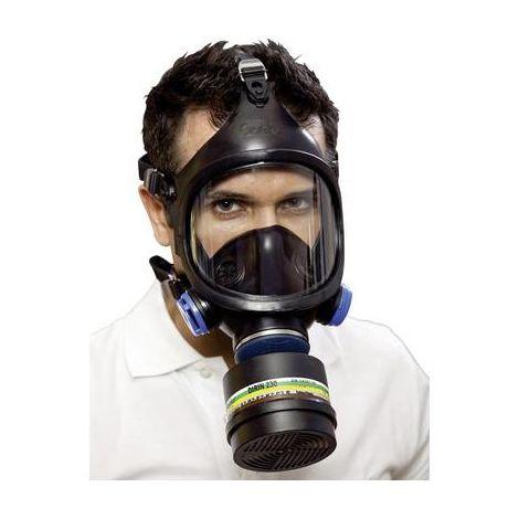masque complet de protection respiratoire bi-filtre