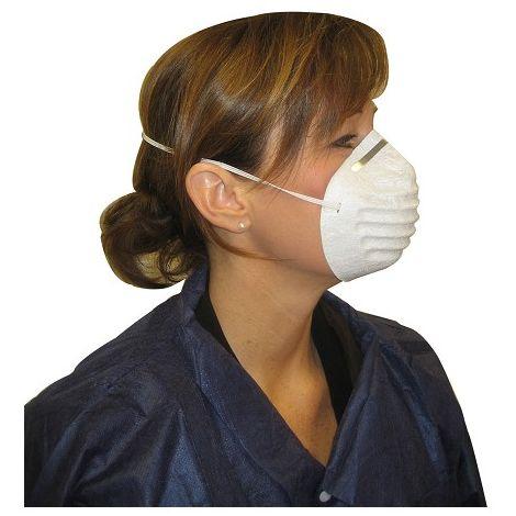 masque anti poussiere blanc