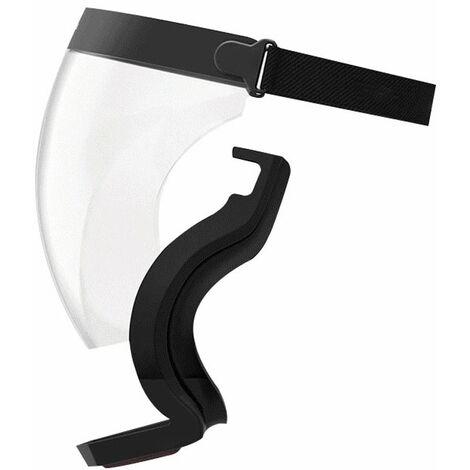 Masque De Cyclisme, Masque Integral Haute Definition Transparent Anti-Poussiere Et Anti-Eclaboussures, Avec Valve Respiratoire, Gris