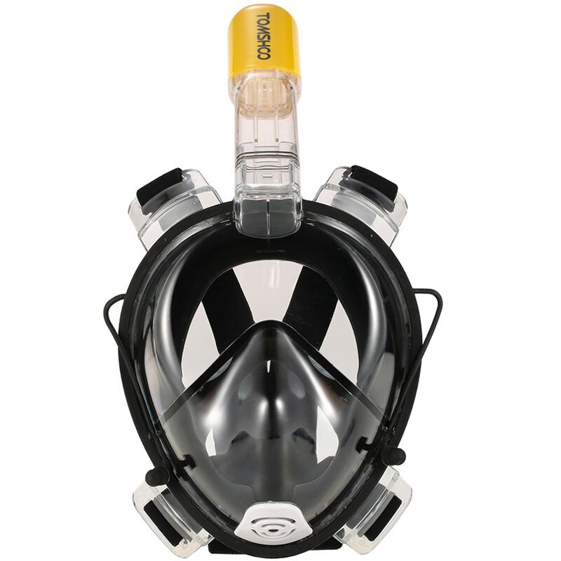Masque De Plongee Adulte En Silicone Sec Complet, Lunettes De Natation + Ensemble Tuba, Noir, Taille S/M