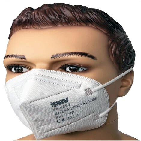 Masque de protection FFP2 vendu par 20 unités utilisation 8h EN 149:2001+A1:2019 Blanc Unique - Blanc
