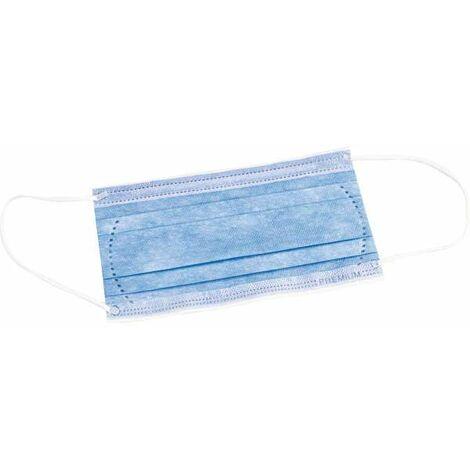 Masque de protection jetable - 3 plis - Lot de 50 - Sélection cazabox