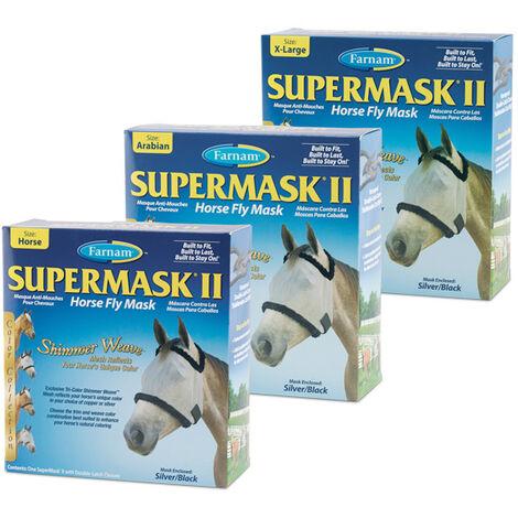 Masque de protection pour les yeux du cheval en supermasque Farnam