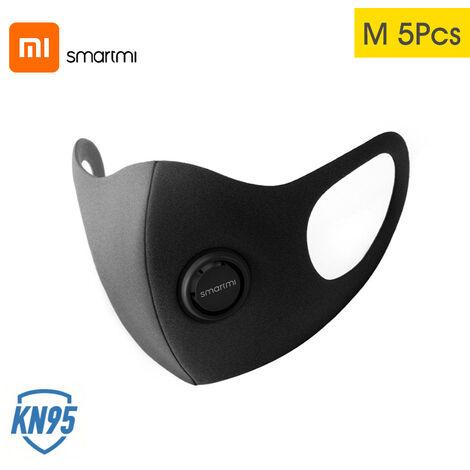 Masque de protection professionnel Zhimi anti-brume KN95 [5 pcs] gris fonce taille M 5 pcs
