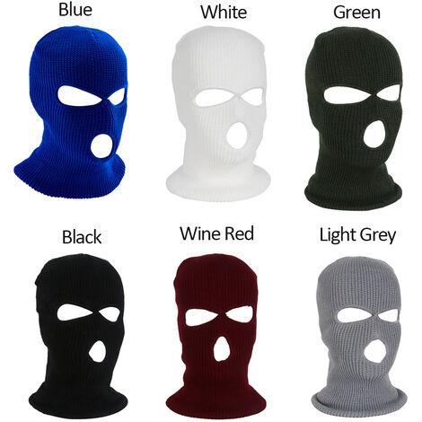 Masque De Ski Integral Chaud Tricote 3 Trous, Vert