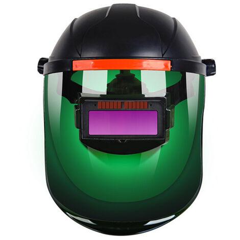 Masque de soudage pour soudeur a assombrissement automatique, soudage a l'arc a l'argon, changement de couleur et changement de lumiere, version verte